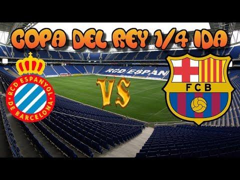 Espanyol vs Barcelona Directo online | 1/4 Copa del Rey 17/01/2018