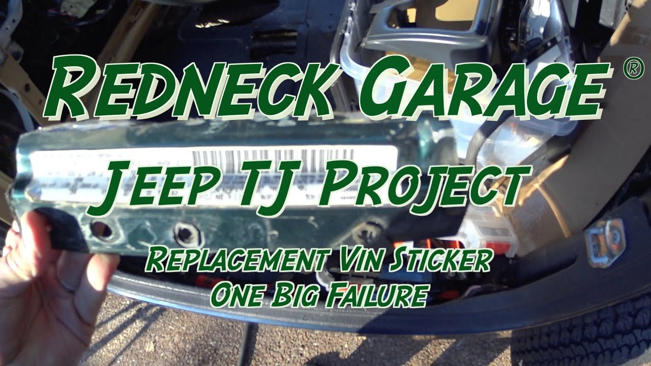 Superior Jeep Wrangler TJ Project   Vin Tag   Vehiclevinstickers   Sux   YouTube