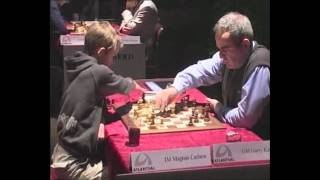Magnus Carlsen Vs. Kasparov(Magnus Carlsen was only 13 years old here. Prince of Chess directed and produced by Oyvind Asbjornsen. See the whole film here: www.princeofchess.com., 2011-05-05T23:39:07.000Z)