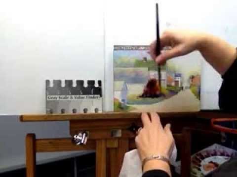 Watercolor painting tips, Using Darks to Make Light by Judy Mudd