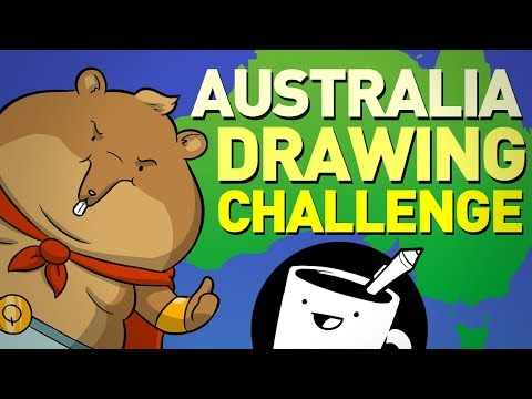 Australian Animal Drawing Challenge (ft. Ozzy Man Reviews)