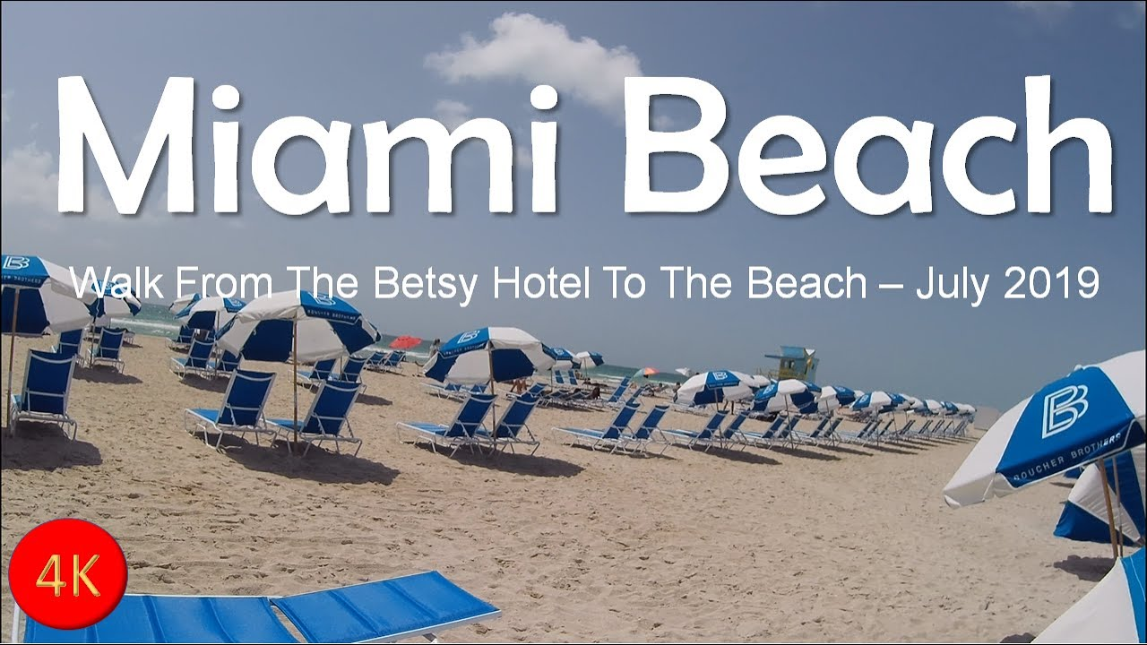 Download [4K] Miami Beach Walk July 2019 -  From the Betsy Hotel to the Beach