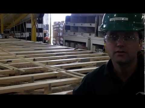 Green Modular Building - Floor framing with engineered wood