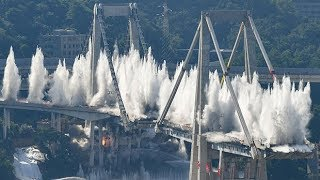 Huge explosion demolishes Genoa Bridge
