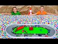 Vlad and Niki play with Toy Cars and build Speedway Track
