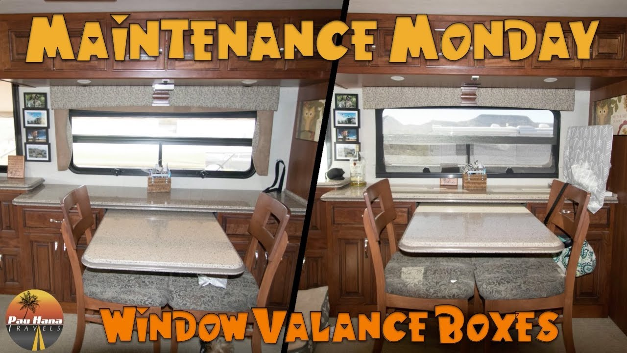 pictures of window valances overstock rv life tackling our tacky window valances maintenance monday