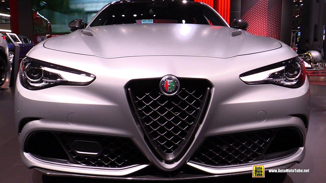 2020 Alfa Romeo Giulia Quadrifoglio Nring Exterior And Interior Walkaround 2019 Ny Auto Show Youtube