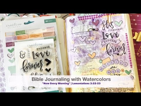 Bible Journaling with Watercolors | featuring Creative Retreat Kits December Faith Art Box