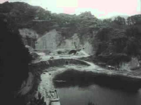 昭和33年 完工を待たれる狩野川...