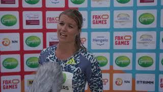 FBK Games 2021 -  Dafne Schippers loopt haar beste seizoenstijd op de 100m