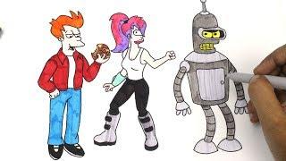 How to Color Bender, Leela and Fry - Matt Groening