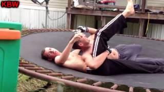 trampoline wrestling kbw kage vs pacman title