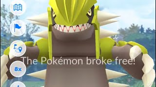 SHINY GROUDON FLEES!!! Pokémon Go AR+ Spoofing Fail