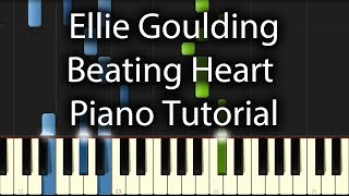 Ellie Goulding - Beating Heart Tutorial (How To Play On Piano)