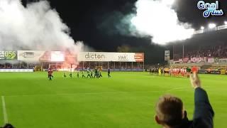 Voetbal fans Antwerpen en Bengaals vuur