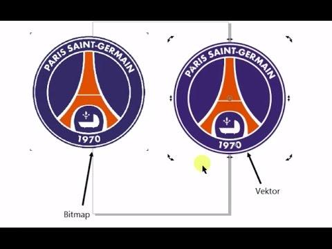 Tutorial membuat logo Tut wuri Handayani Manual Trace.