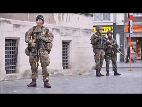 Royal Marines exercise Storm Tide 3 in Belgium