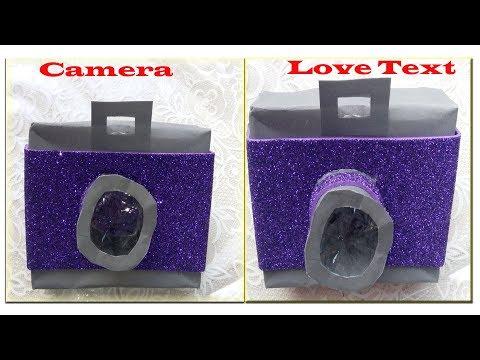 Unique Instax Card Tutorial  Paper Camera  Love Text Sarapbook Diy paper Crafts idea love Gift Box
