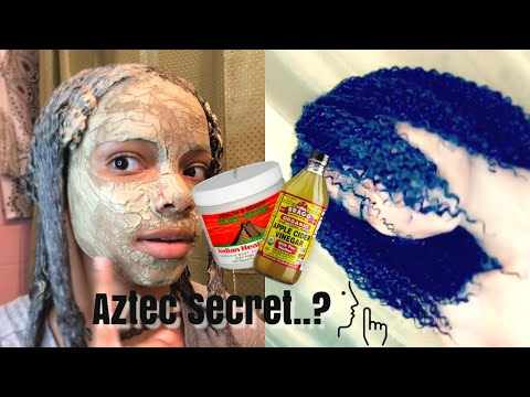 AZTEC CLAY MASK ON SKIN AND NATURAL HAIR!!