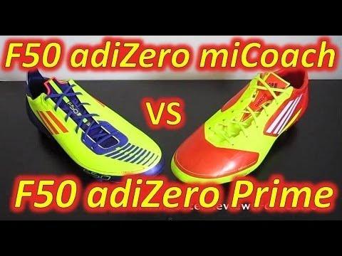 Adidas F50 adizero miCoach (Synthetic) VS Adidas F50 adizero (Prime/Synthetic) - Comparison