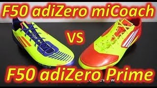 Adidas F50 adizero miCoach (Synthetic) VS Adidas F50 adizero (Prime/Synthetic) - Comparison