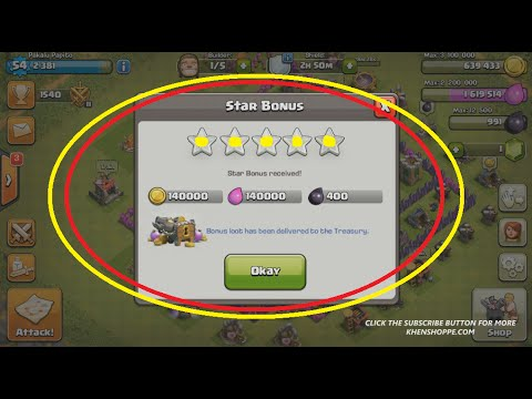 How To Get 5 Star Bonus Daily - Clash Of Clans Update