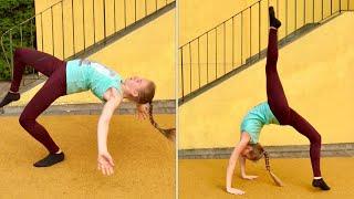 Good leg vs bad leg gymnastics Challenge 🙈  gute Seite gegen schlechte Seite turn Challenge 😂