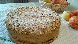 Шарлотка по-польски! / Яблочный пирог с заварным кремом!