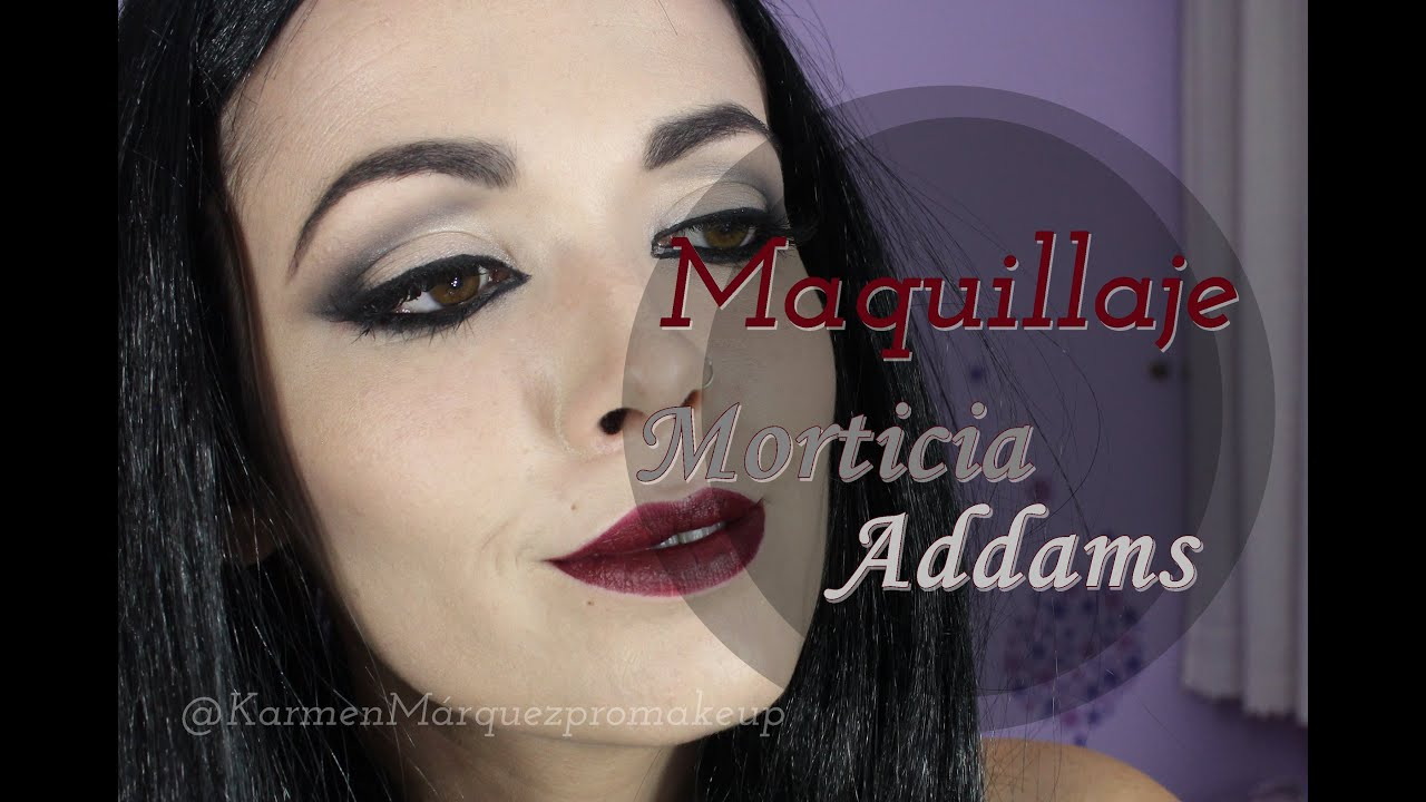 morticia addams tutorial maquillaje halloween youtube