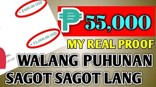 RECEIVED PAYMENT P55,000 WALANG NILABAS NA PUHUNAN | SAGOT SAGOT LANG SA CP | MY REAL PROOF