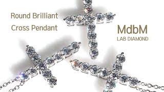 랩다이아몬드 라운드 브릴리언트 십자가 목걸이 ( Lab…