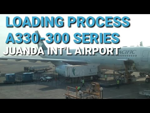 Cathay Pacific Cargo loading Process Juanda International Airport Surabaya