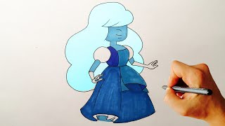 How to draw Sapphire from Steven Universe drawing lesson