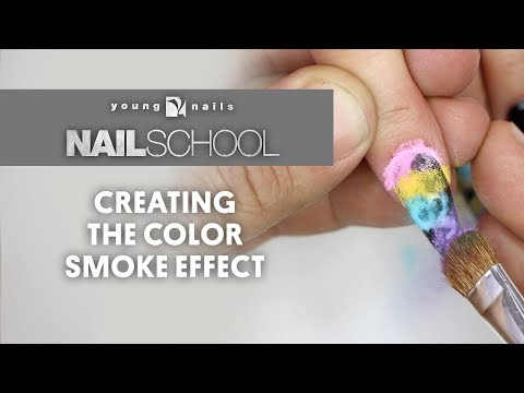 YN NAIL SCHOOL - CREATING THE COLOR SMOKE EFFECT