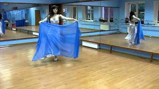 Belly dance.  Raks  sharki - Восточный  танец  с  платком.Тренировка