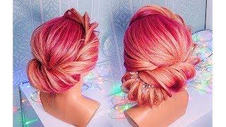ПРИЧЕСКИ на НОВЫЙ ГОД. Быстрая прическа на средние волосы. Без накрутки💛  Easy Hairstyles