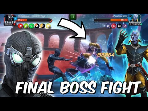 GRANDMASTER FINAL BOSS FIGHT - ACT 6 EPIC TAKEDOWN WITH SPIDER-MAN - Marvel Contest Of Champions