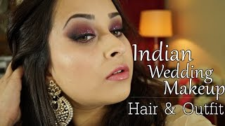 Get Ready with Me - Indian Wedding Makeup , Hair and Indian Outfit for Curvy Women