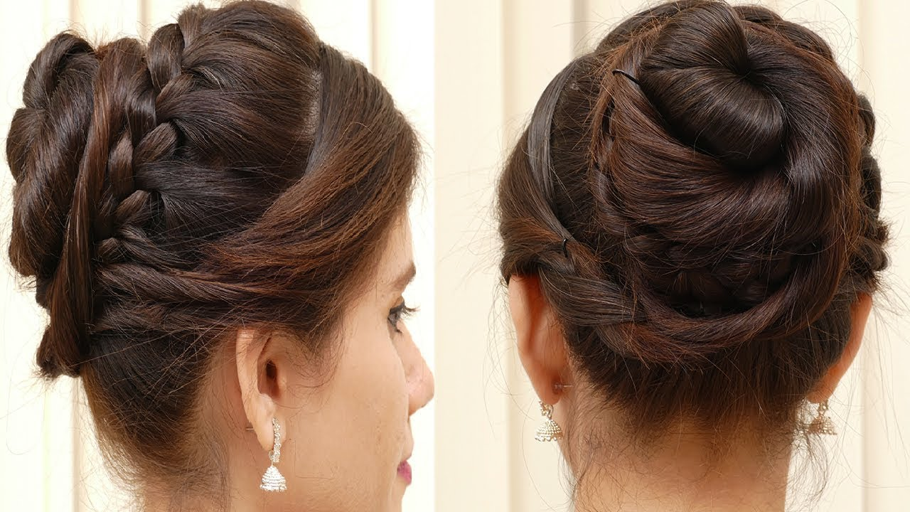ladies new hair style bridal bun hair style for hair easy hair style for 4751 | maxresdefault