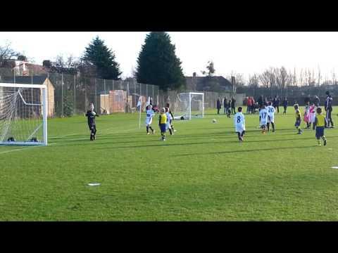 Jack playing for Arsenal v Swansea City u8