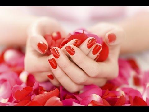 Оригинальный дизайн нарощенных ногтей 2015 в красных и розовых тонах