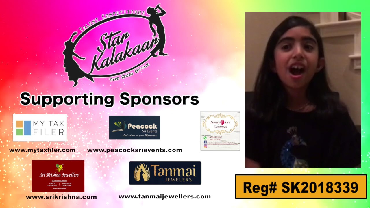Participant Reg# SK2018-339 Introduction - US Star Kalakaar 2018 || DesiplazaTV
