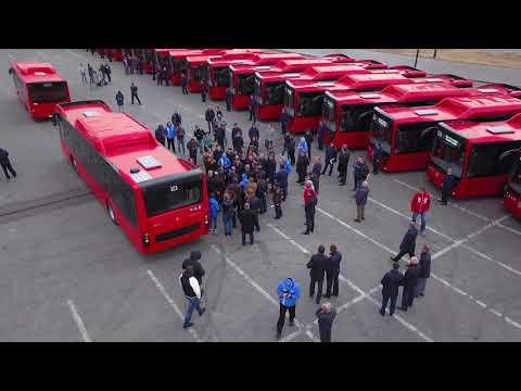 Поставка новых экологичных автобусов в Казань
