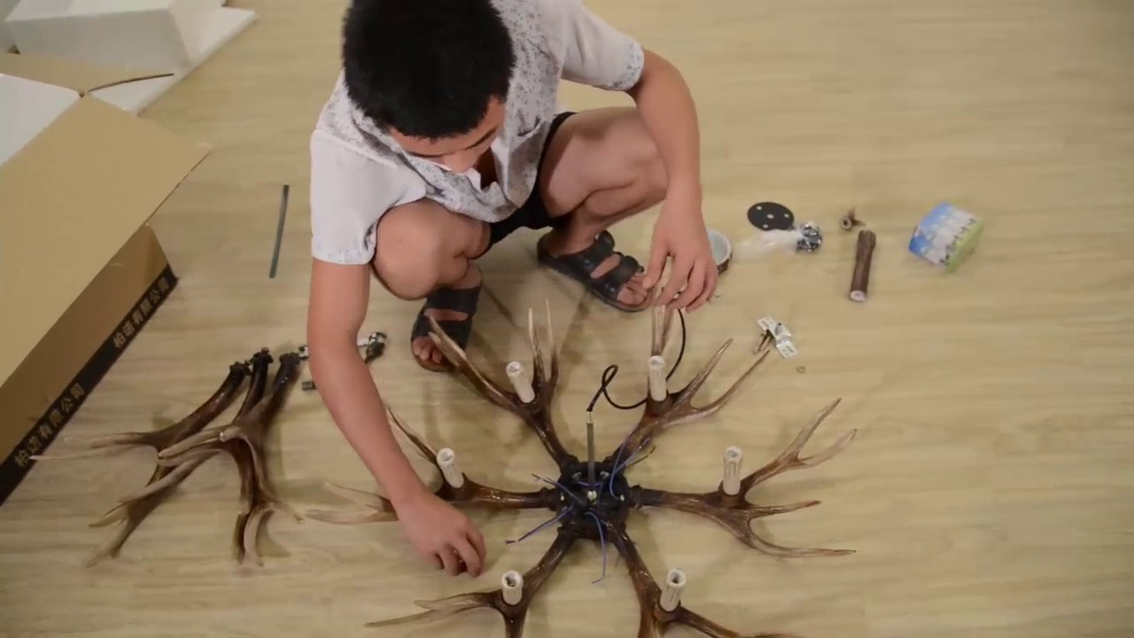 How To Install Antler Chandelier