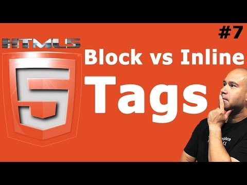 HTML Block vs Inline Elements & Tags - HTML Tutorial for Beginners thumbnail