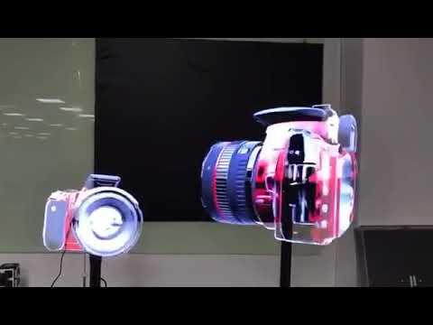 42cm 3D LED Advertising Hologram Cloud Fan For Advertising