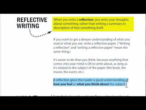 English Course Reflection Essay English Course Reflection Essay Writing A Reflection