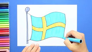 How to draw and color the Flag of Sweden