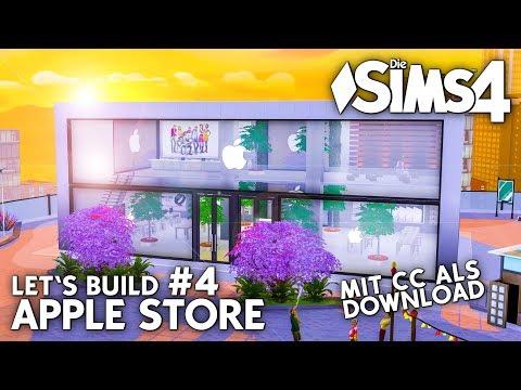 Die Sims 4 Apple Store bauen | Let's Build #4 mit Apple CC Objekten als Download