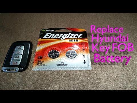 Replace Hyundai Key Fob Battery